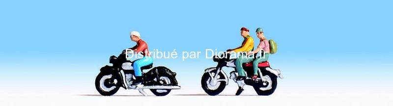 Figurines miniatures : Motocyclistes - Noch 15904