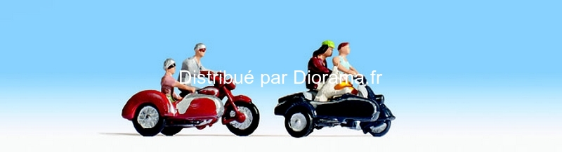 Figurines miniatures : Motocyclistes - Noch 15905