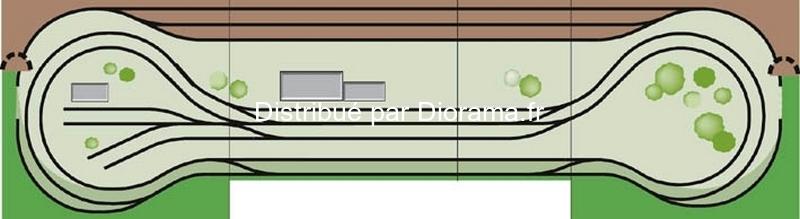 Noch 80320 - Plateau modulaire 1:87, 120 x 100 cm