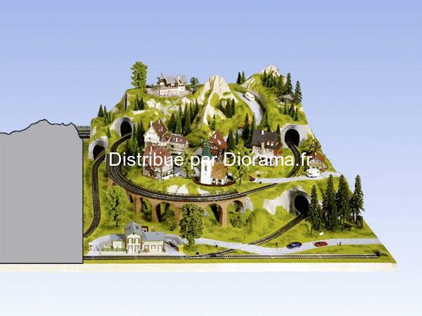Noch 80150 - Extension droite de Plateau 120 x 140 cm, 46 cm de hauteur