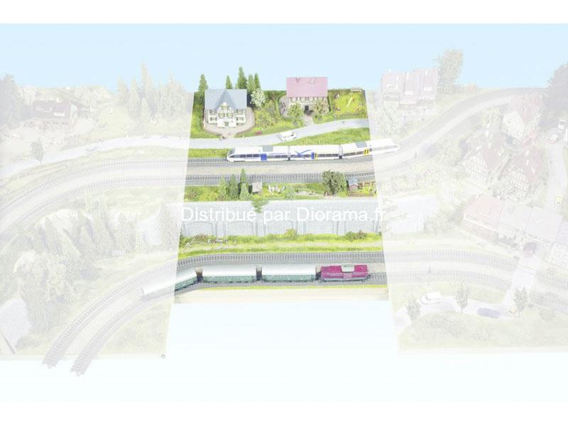 "Noch 80340 - Plateau modulable ""Heidelberg"" N° 4 - 1:87, 60 x 80 cm, hauteur 14 cm."