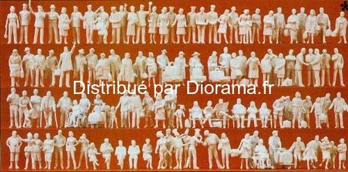 Preiser 16352 - 120 Personnages à la gare 1:87