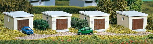 4 garages miniatures 1:160- N