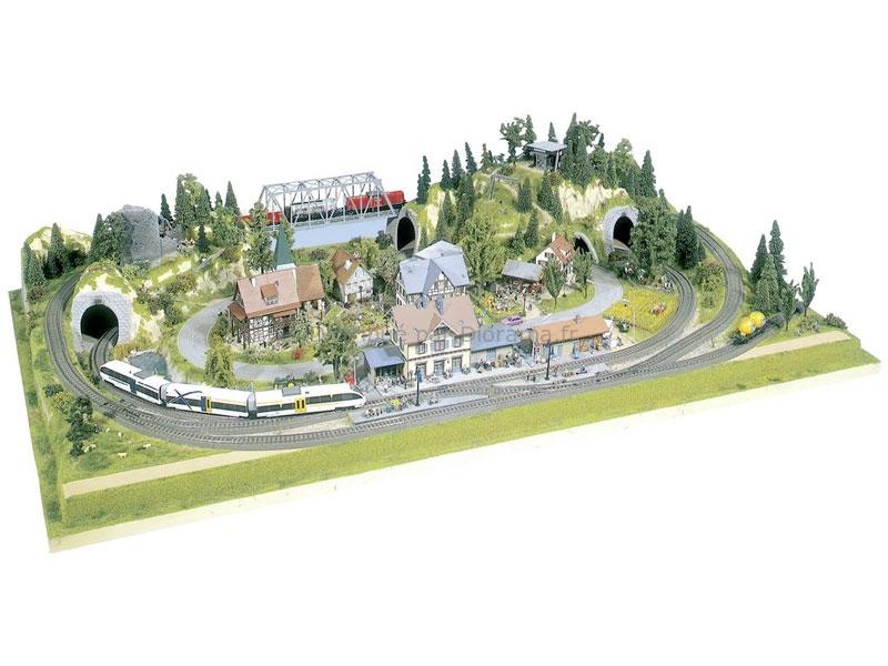 Noch 81600 - Plateau Rosenheim, 1:87 HO à 1:220 TT, 160 x 100 cm, 23,5 cm de hauteur