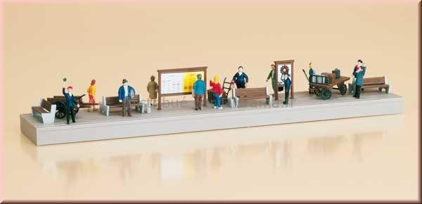 Quai ou trottoir et figurines 1:87