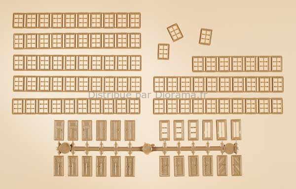 Lot de fenêtres et portes miniatures - 1:87 HO