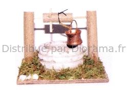 Accessoires de crèche : Puit miniature