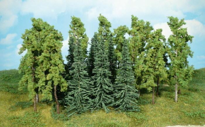 Heki 1416 - 15 arbres et sapins assortis 12 - 16 cm