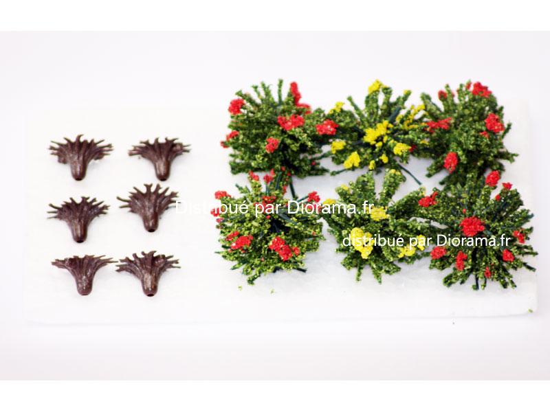 Buissons fleuris 3 cm - échelle O ; 1:22,5