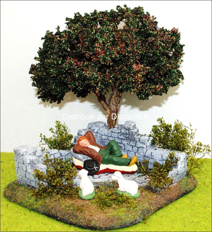 Décors de pierres avec arbre 15 cm
