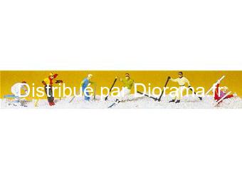 Preiser 10313 - Skieurs miniatures alpins 1:87