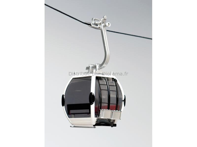 Télécabine oméga blanche pour téléphérique miniature