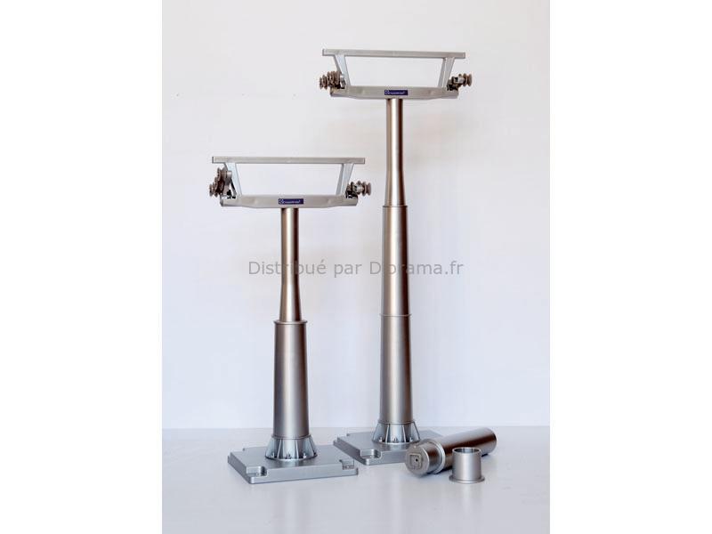 2 poteaux pour cable téléphérique miniature