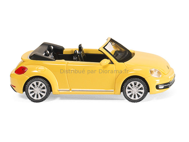 Maquette voiture : VW The Beetle Cabriolet 'Jaune saturne' - 1:87 - Wiking 92003