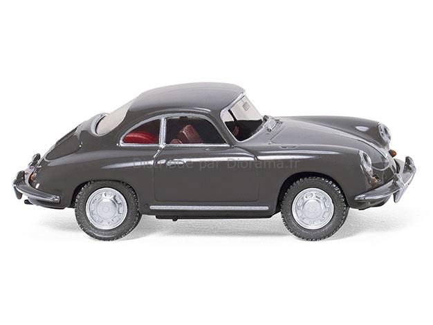 Maquette voiture : Porsche 356 Coupé 'gris ardoise' - 1:87 - Wiking 81407